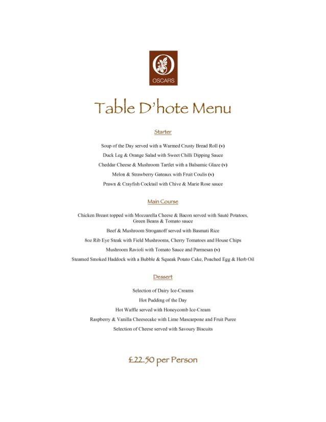 table d 39 hote 4 restaurant menu formats pinterest