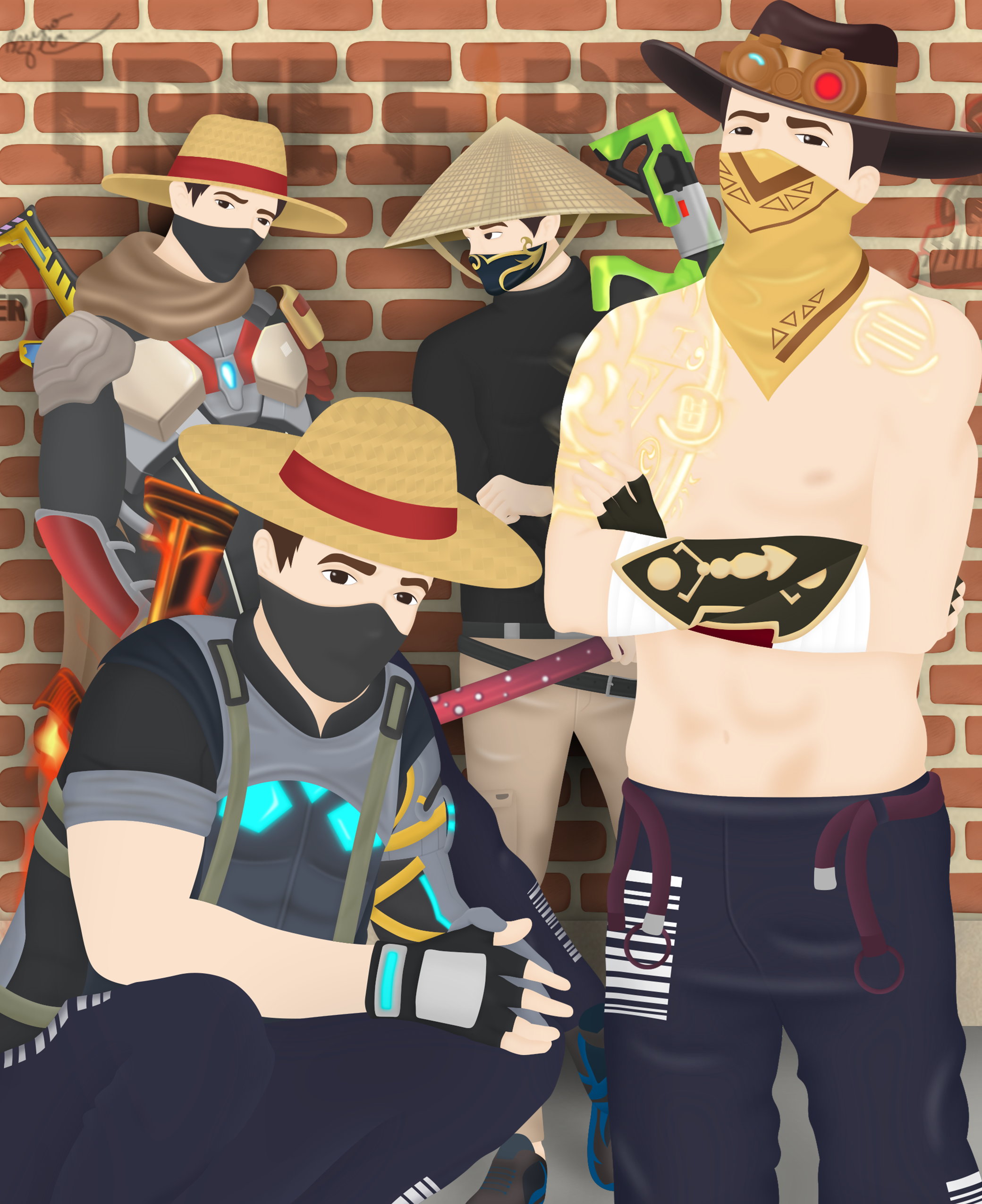 The Squad Freefire Em 2020 Arte Ilustracoes Free