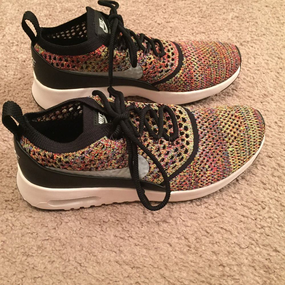 Nike Air Max Thea Ultra Flyknit Multi Rainbow Women's Size 8
