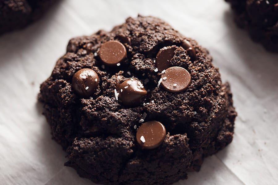 One Double Chocolate Keto Brownie Cookie Brownie Cookies Keto