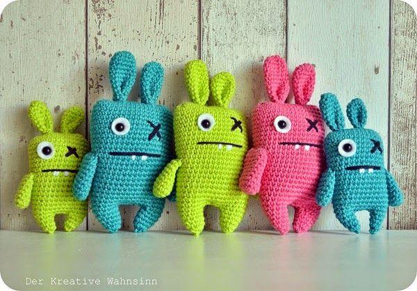 Der kreative Wahnsinn: Ugly Bunnys ♥ zum Osterfest   Moni häkelt ...