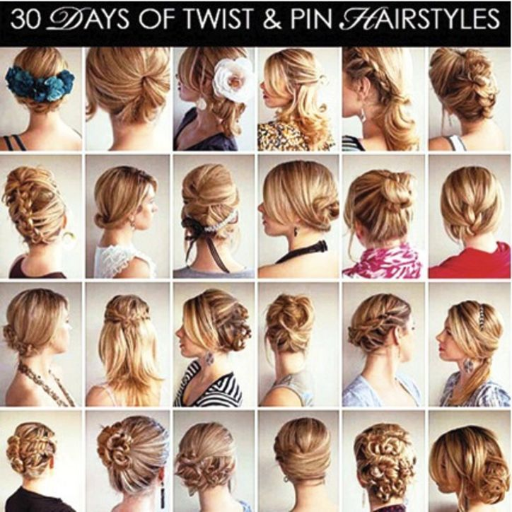 30 Days Of Twist And Pin Hairstyles Want Need Love