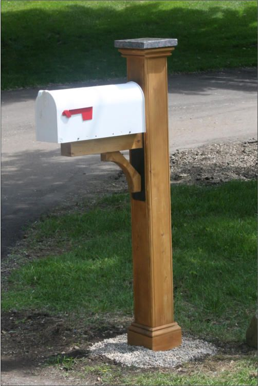 Newberry Mailbox Post In Cedar With A Oil Finish Woodhouse Carpentry Com Cedar Mailbox Post Mailbox Post Mailbox Posts