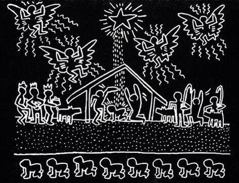 Keith Haring - Merry Christmas