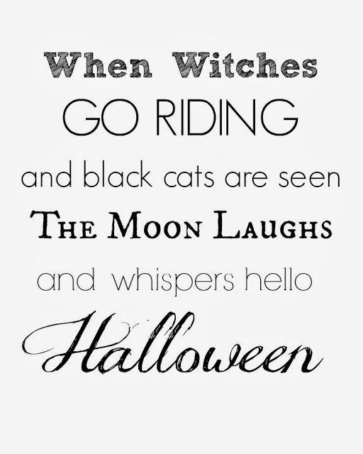 Free Black  White Halloween Printable - Through the Eyes of the Mrs - free halloween decorations printable