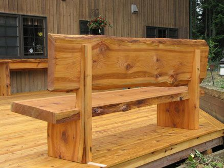 live edge bench furniture to make pinterest b nke holzbank und tisch. Black Bedroom Furniture Sets. Home Design Ideas
