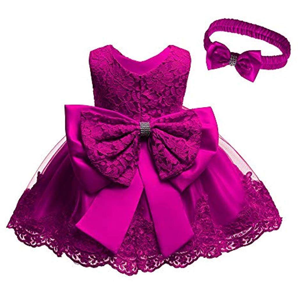 new styles 4827b f90ab LZH Vestito da Ragazza per Bambina Abito da Battesimo da ...
