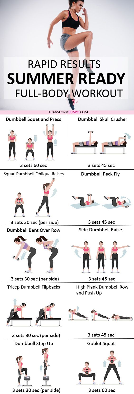 #womensworkout #workout #femalefitness Share and repin if this workout helped you get a summer body.   Click the pin for the full workout.