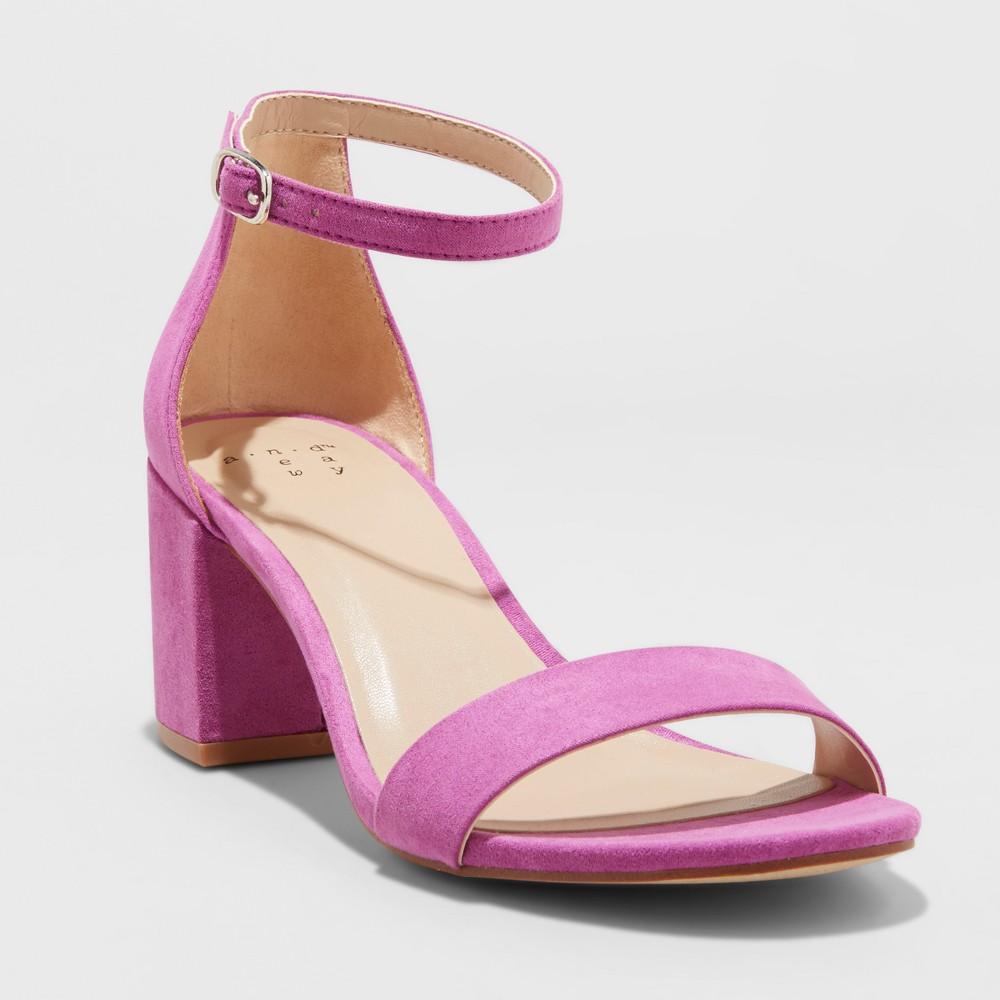 pink small block heels