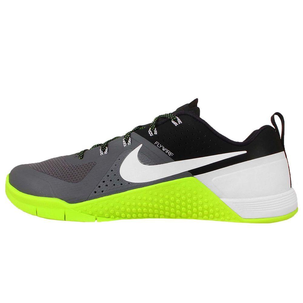 Nike Metcon 1 Grey White Volt Black 2015 New Mens Trainer Cross Training  Shoes