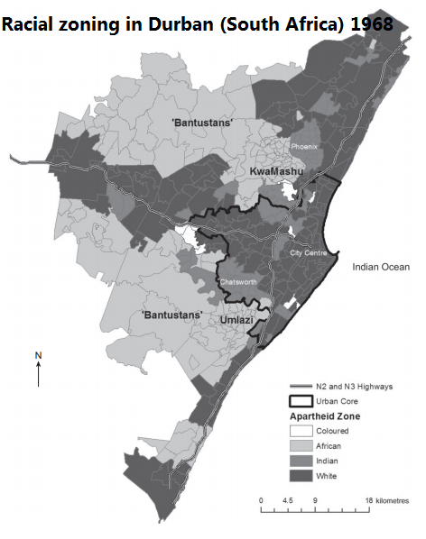 Racial Zoning In 1960s Durban South Africa Like Most The Power