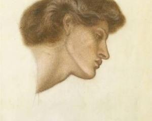 Dante Gabriel Rossetti, 1870, Dante`s Dream at the Time of the Death of Beatrice study