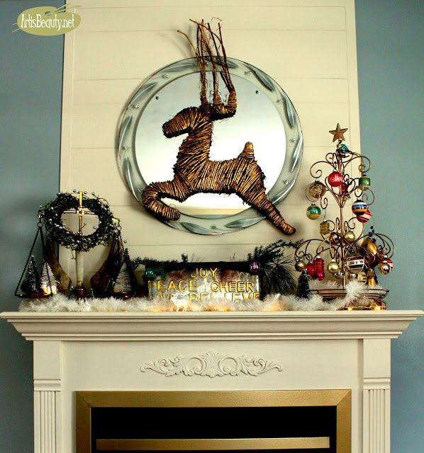 ART IS BEAUTY My Vintage Christmas Mantel! Christmas Ideas TOUR