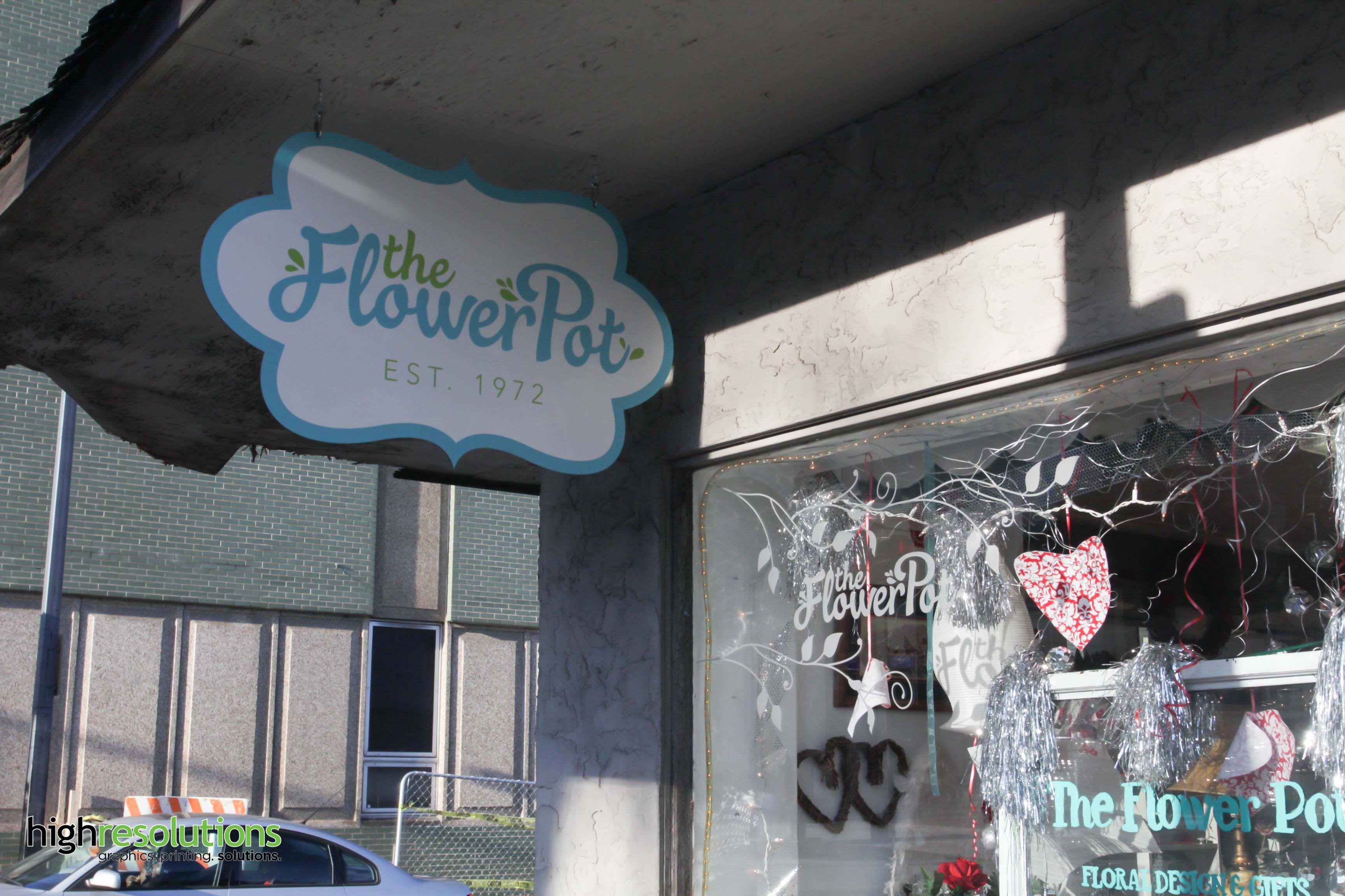 Custom die-cut metal signs for The Flower Pot in Knoxville. & Custom die-cut metal signs for The Flower Pot in Knoxville. | Large ...