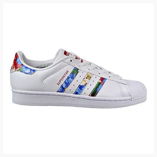 bc74b42082cbca adidas  s superstar - blanc   rouge   multi - superstar couleurs fashion  baskets (