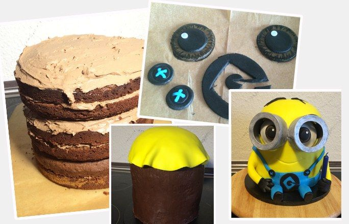 How To Make A Standing Minion Cake