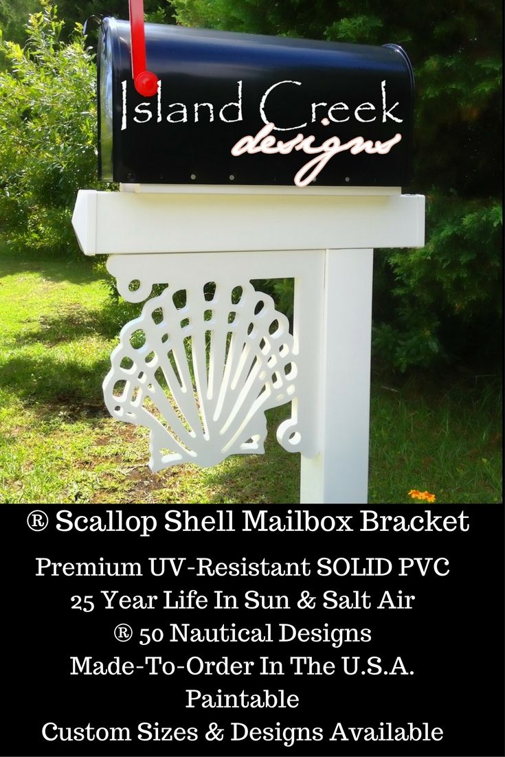Scallop Shell Decorative Mailbox Bracket. Mailbox Makeover Awesome. Mailbox  Makeover Curb Appeal.