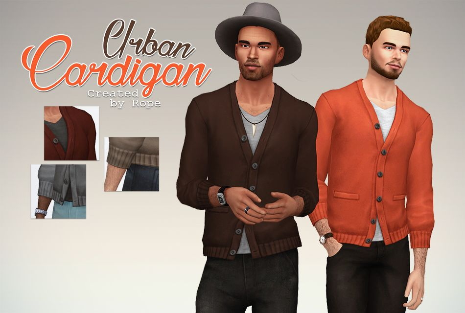 Sims4MM — simsontherope:   Urban Cardigan for the Sims 4....