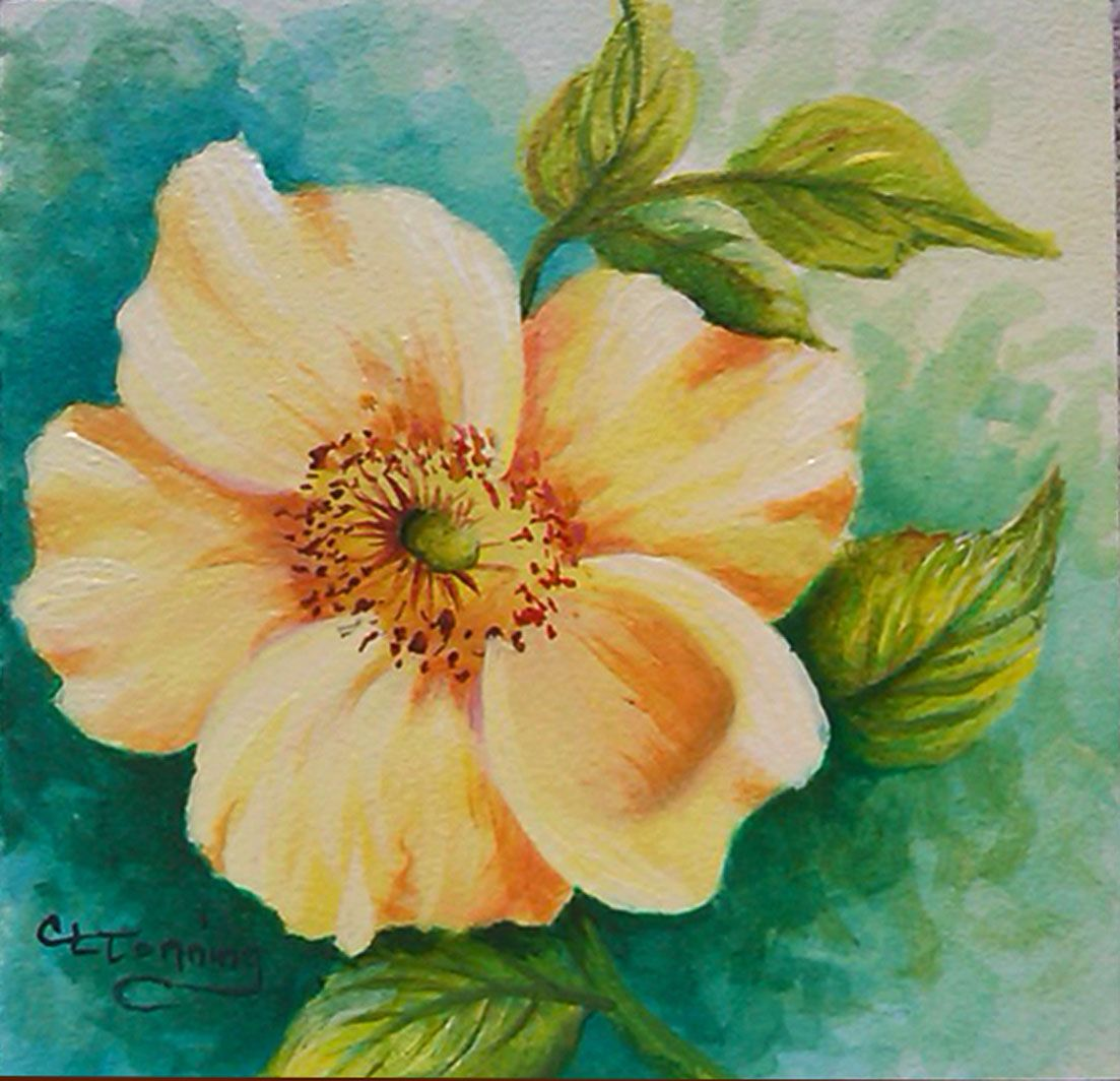 Easy acrylic flower paintings wallpapers masswallpapers for Simple flower paintings for beginners