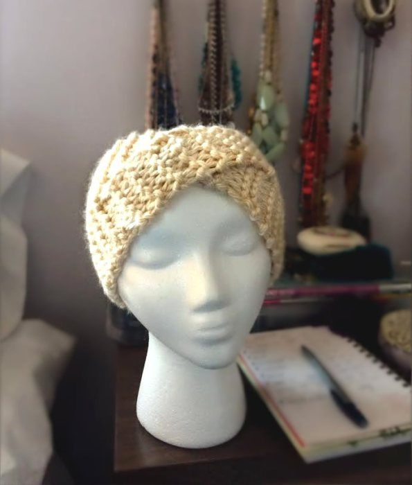 Free Pattern: Twisted Turban | Knitted headband free ...