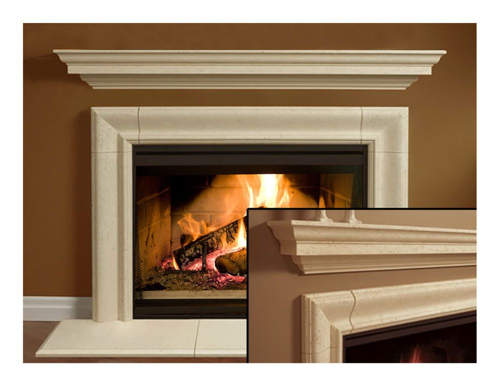 Details about Fireplace Mantel (mantle) Surround Simplicity Design Cast  Stone non-combustible - Details About Fireplace Mantel (mantle) Surround Simplicity Design