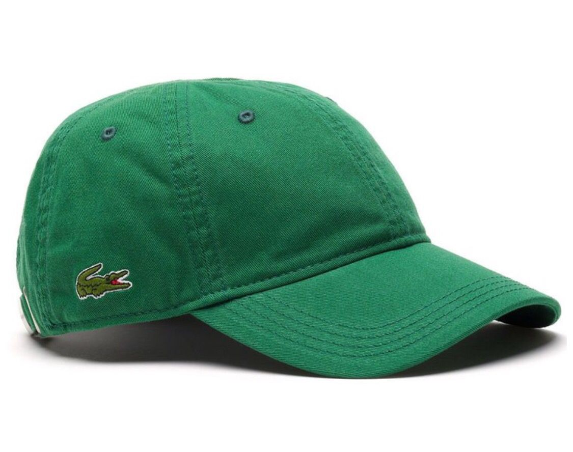 bfe7f2fbebd Lacoste Men s Cotton Gabardine Cap with Signature Green Croc