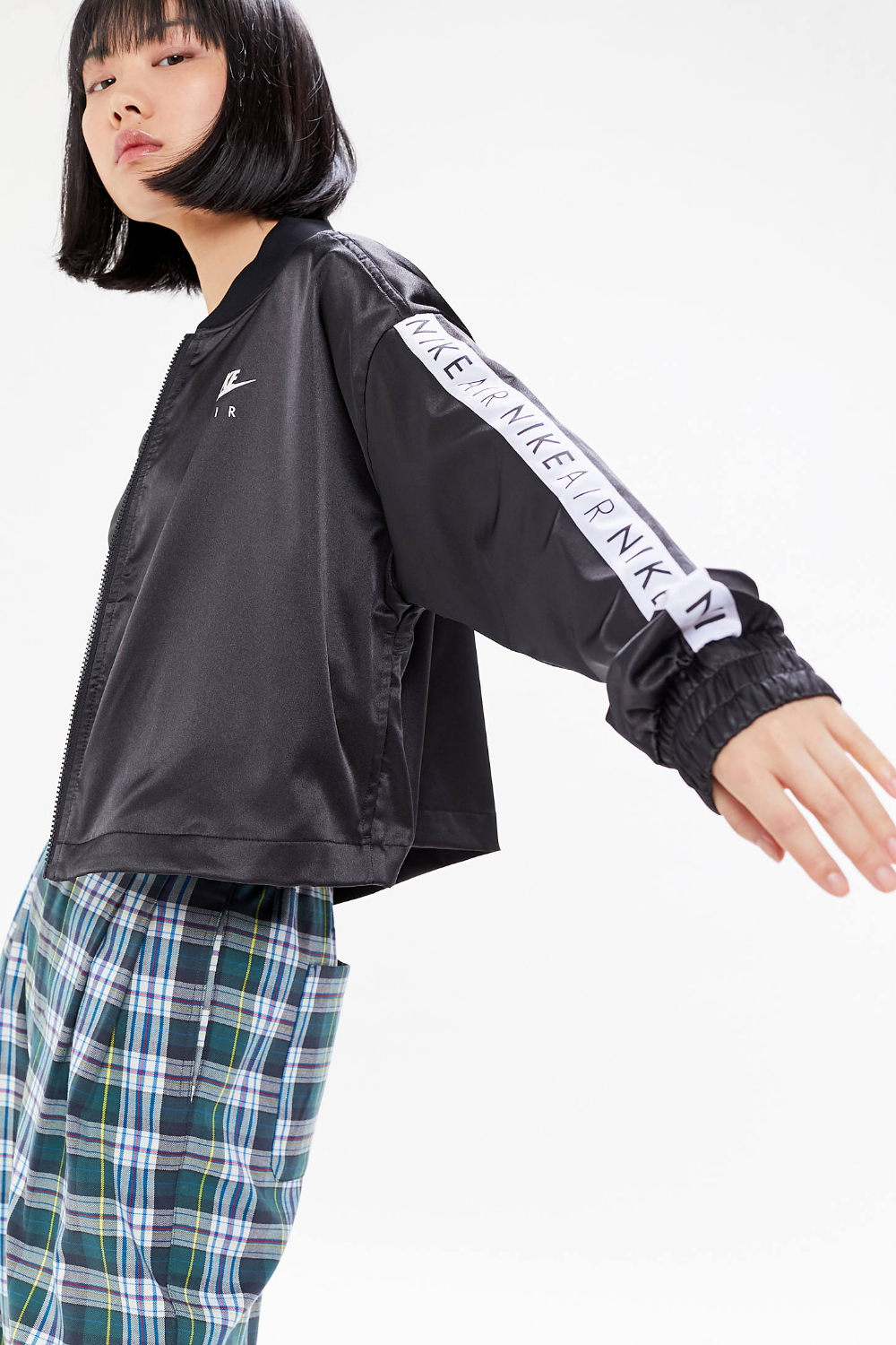 Nike Air Satin Logo Tape Track Jacket (With images