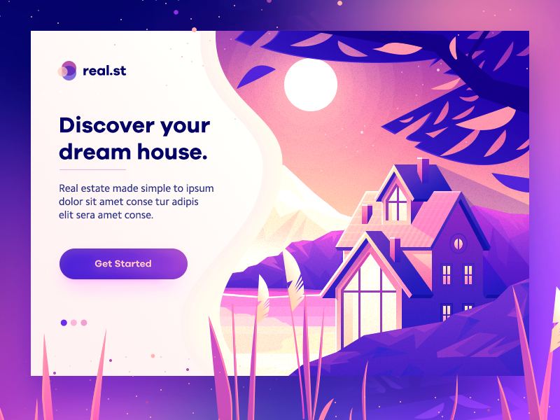 Dream House Concept Blog Layout Design Web Development Design Banner Design Layout