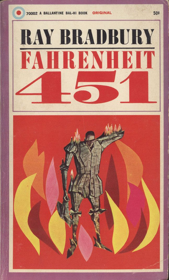Image result for fahrenheit 451 original book cover