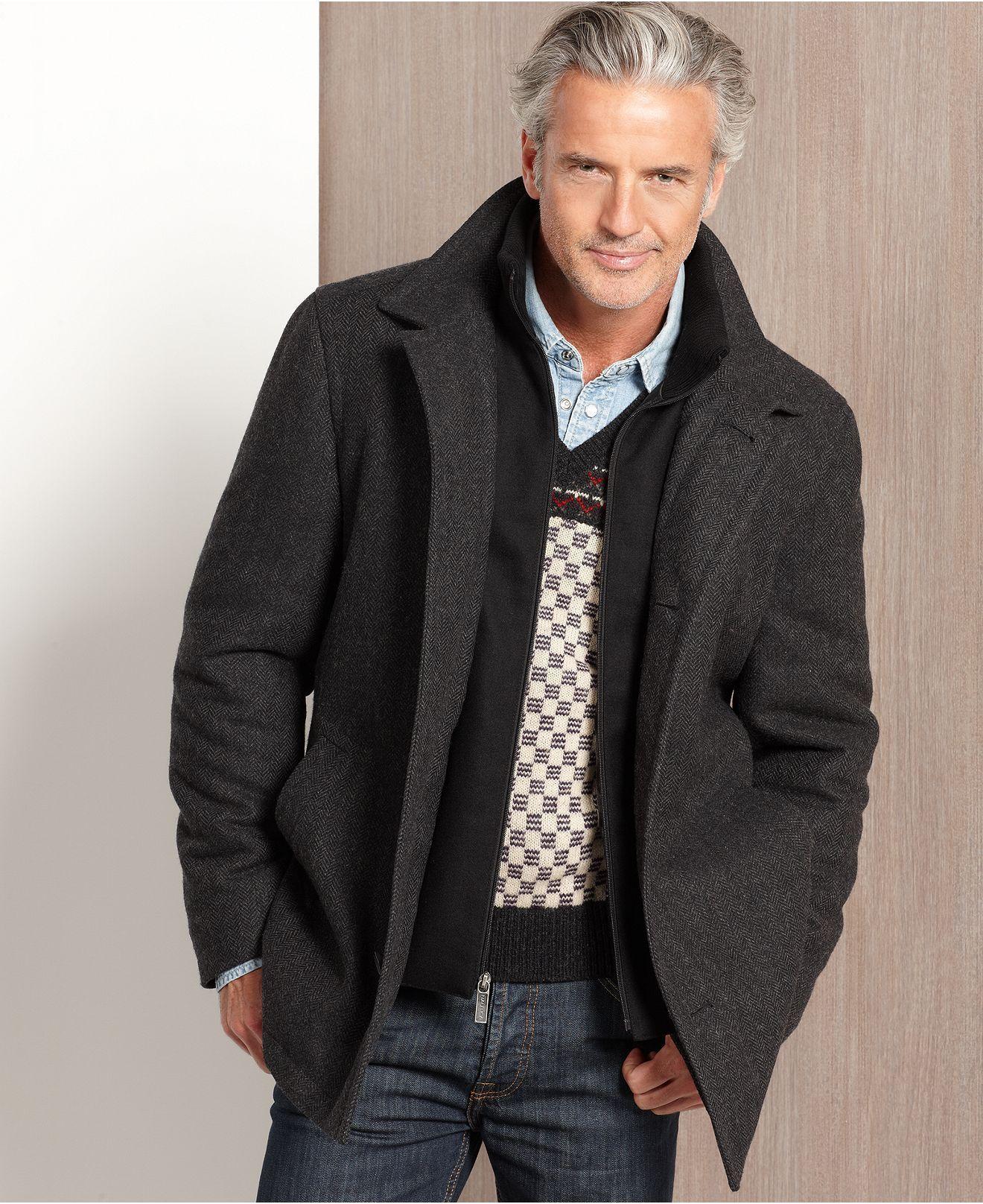 Nautica Jacket Melton Wool Blend Coat With Knit Collar Macy S Wool Blend Coat Clothes Jackets [ 1616 x 1320 Pixel ]