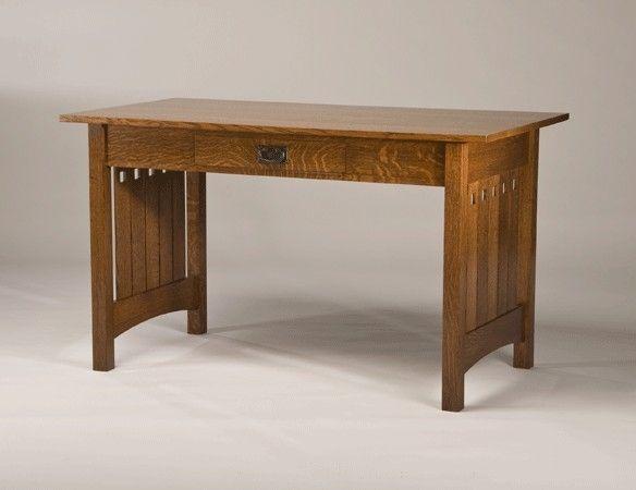 Quarter Sawn White Oak Mission Style Desk