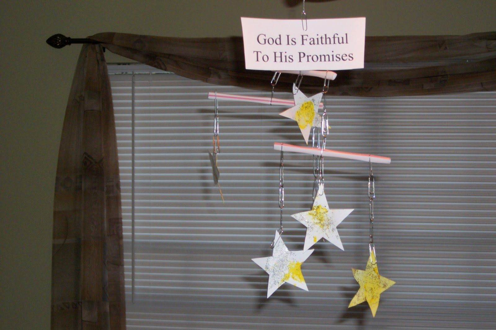 God S Promise To Abraham Stars Template