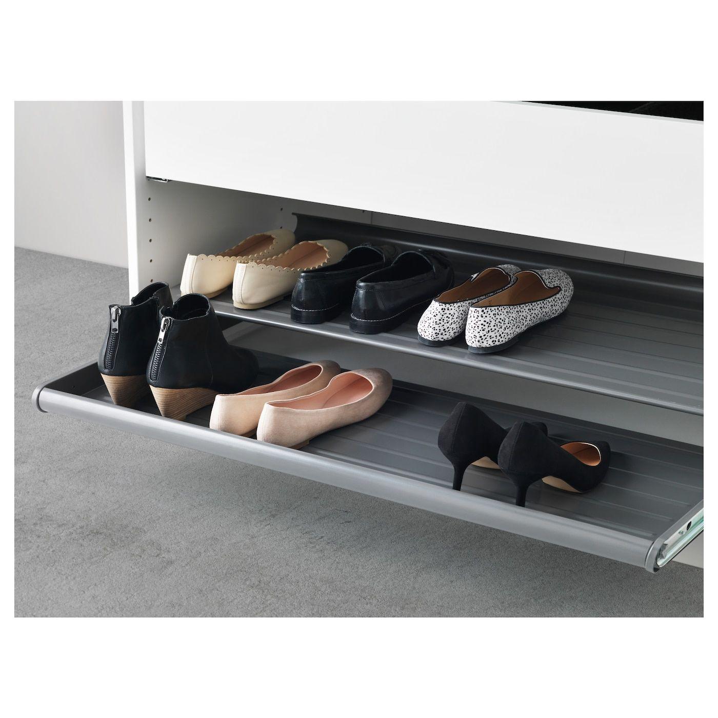 KOMPLEMENT Pull-out shoe shelf - dark gray 39 3/8x22 7/8