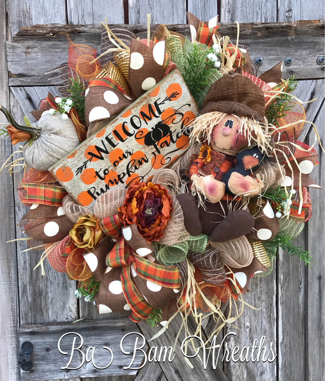 fall wreath ideas fall wreath autumn wreath scarecrow wreath pumpkin 31640