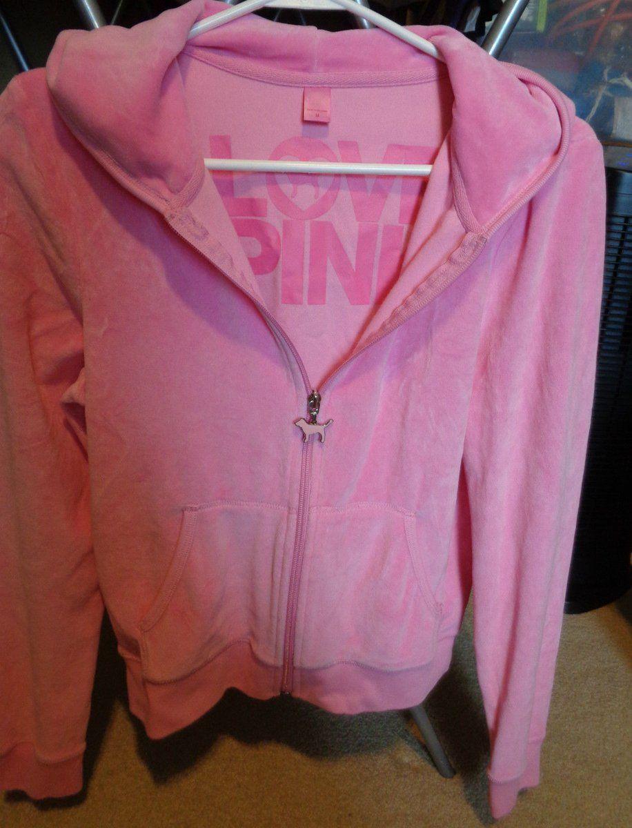 #Popular - victoria secret PINK love pink M zip up hooded jacket  http://dlvr.it/N9hdtY - http://Ebaypic.twitter.com/SiLW4syN0i