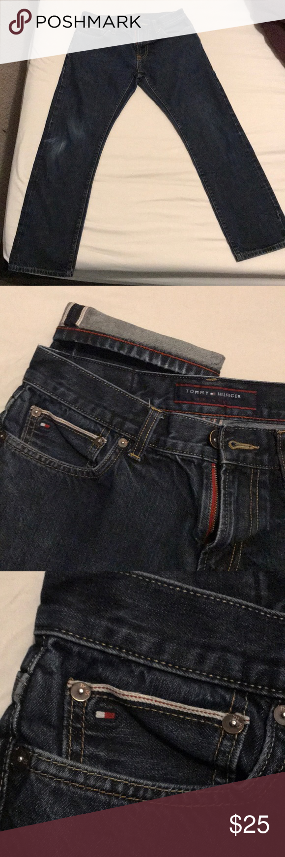 f6b99a65a Tommy Hilfiger Jeans Selvedge Vintage Tommy Hilfiger Selvedge Denim Size  30x30 Slim Straight Fit Used 25