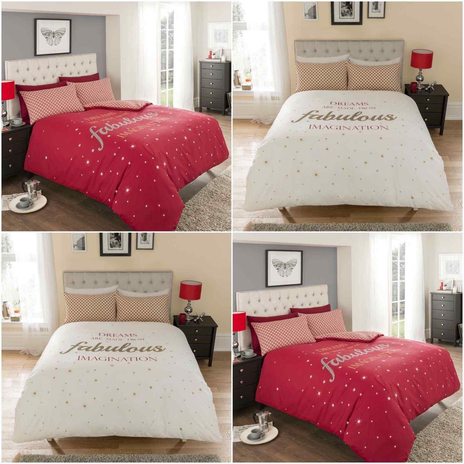 Luxury Fabulous Cream Red Duvet Quilt Bedding Set Linens Range Bed Linens Luxury Bed Linen Design Bed Linen Sets