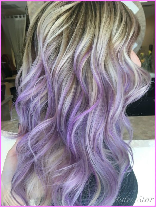 Awesome Blonde Hair With Purple Lowlights Hair Dye Tips Purple Blonde Hair Dyed Blonde Hair