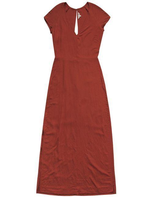 05b6599c069e Ali Golden Deep V Maxi Dress - Rust | i n v e s t m e n t | Dresses ...