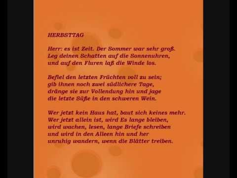 rainer maria rilke gedicht 39 herbsttag 39 ins. Black Bedroom Furniture Sets. Home Design Ideas