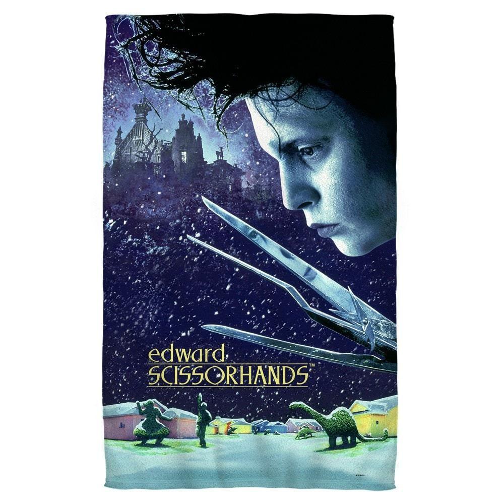 Edward scissorhands movie poster golf towel edward