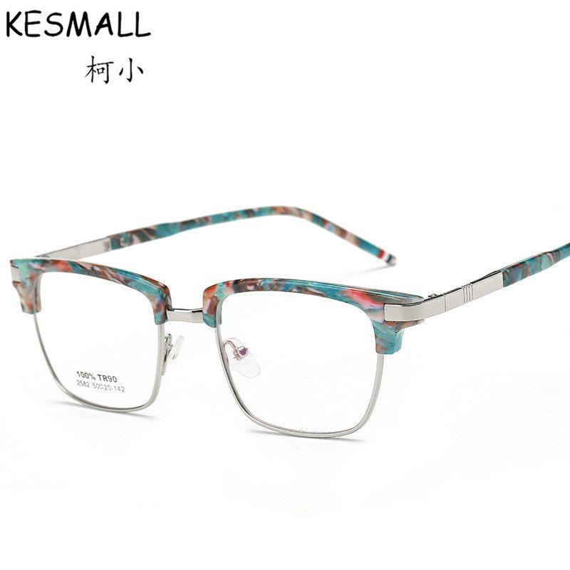 b3fb690d0d0 2017 Fashion Optical Glasses Frame Women Men Retro Myopia Eyeglasses Metal  Frames Female Eye Glasses Frame