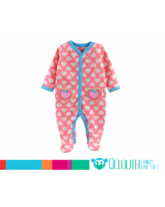 12aa824e9 Infant Baby Girl Footed Polar Fleece Pajamas Jumpsuit Pink Long ...