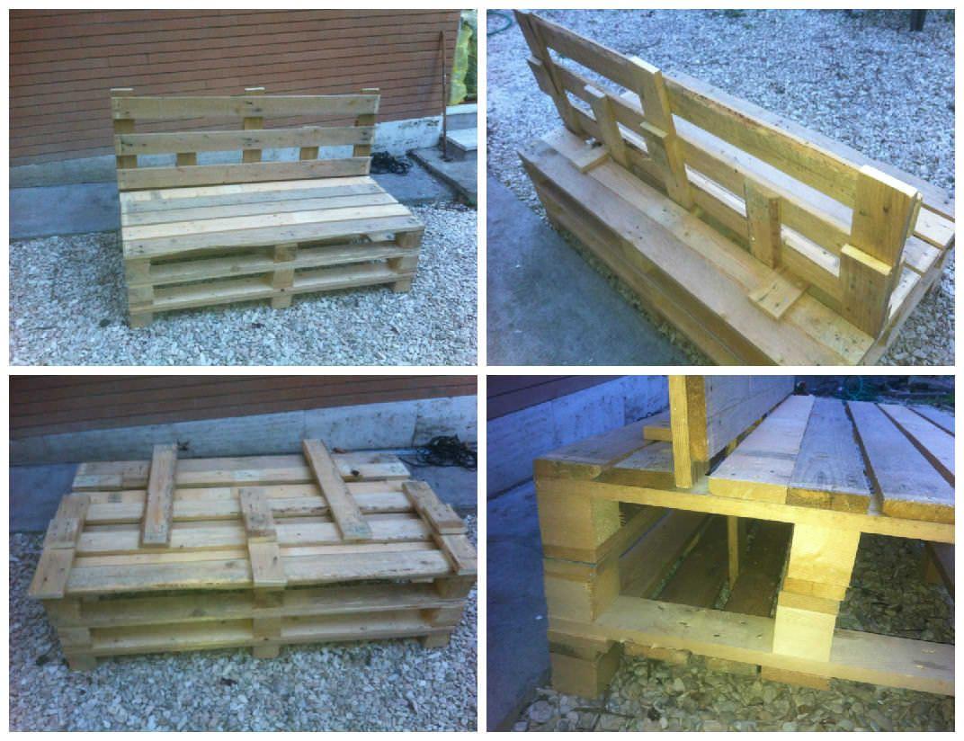 Folding Pallets Garden Sofa | Garden sofa, Pallets garden ...