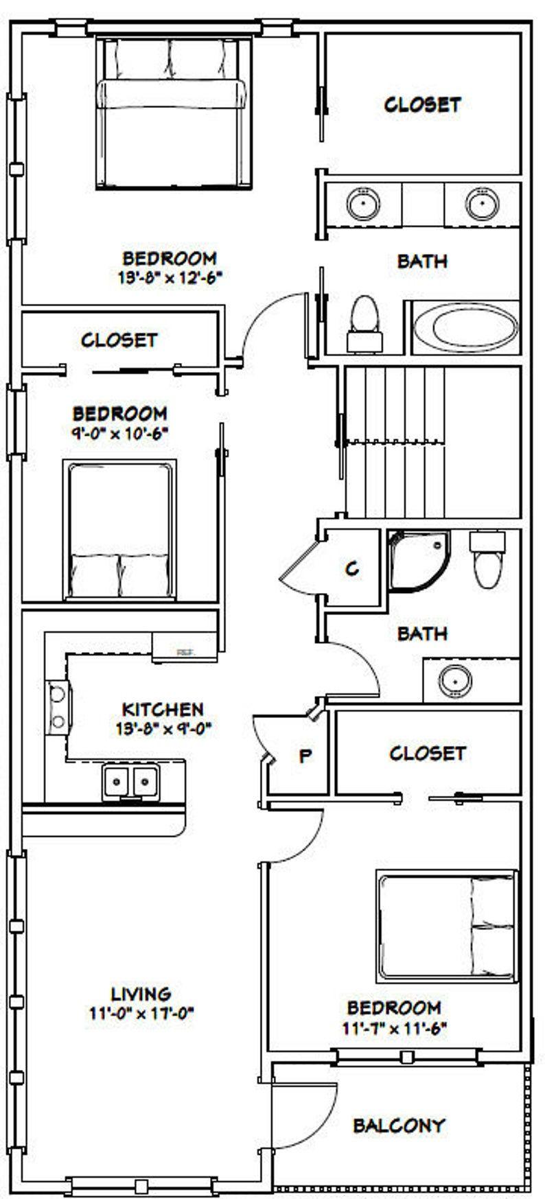 44x48 House 4Bedroom 3Bath 1,645 sq ft PDF