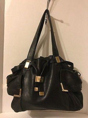 Michael Kors C 1003 Black Leather Handbag Large L Ebay