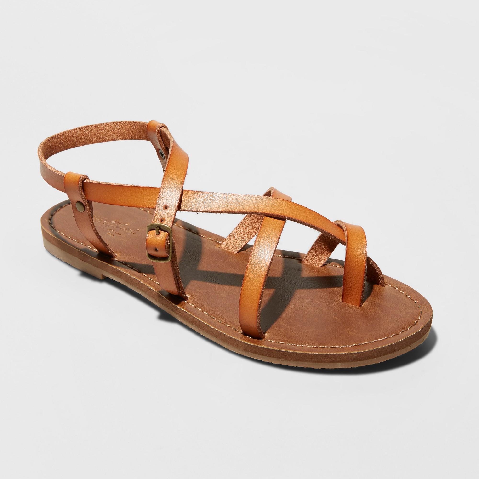 f635a5604205 Women s Lavinia Toe Wrap Wide Width Thong Sandal - Universal Thread Tan 7W