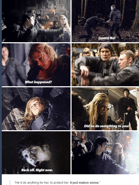 These two are soulmates and if season 3 doesnt show them together someone (the 100 people) are gonna get hurt BECAUSE THOSE TWO BELONG TOGETHER FOREVER!!!!