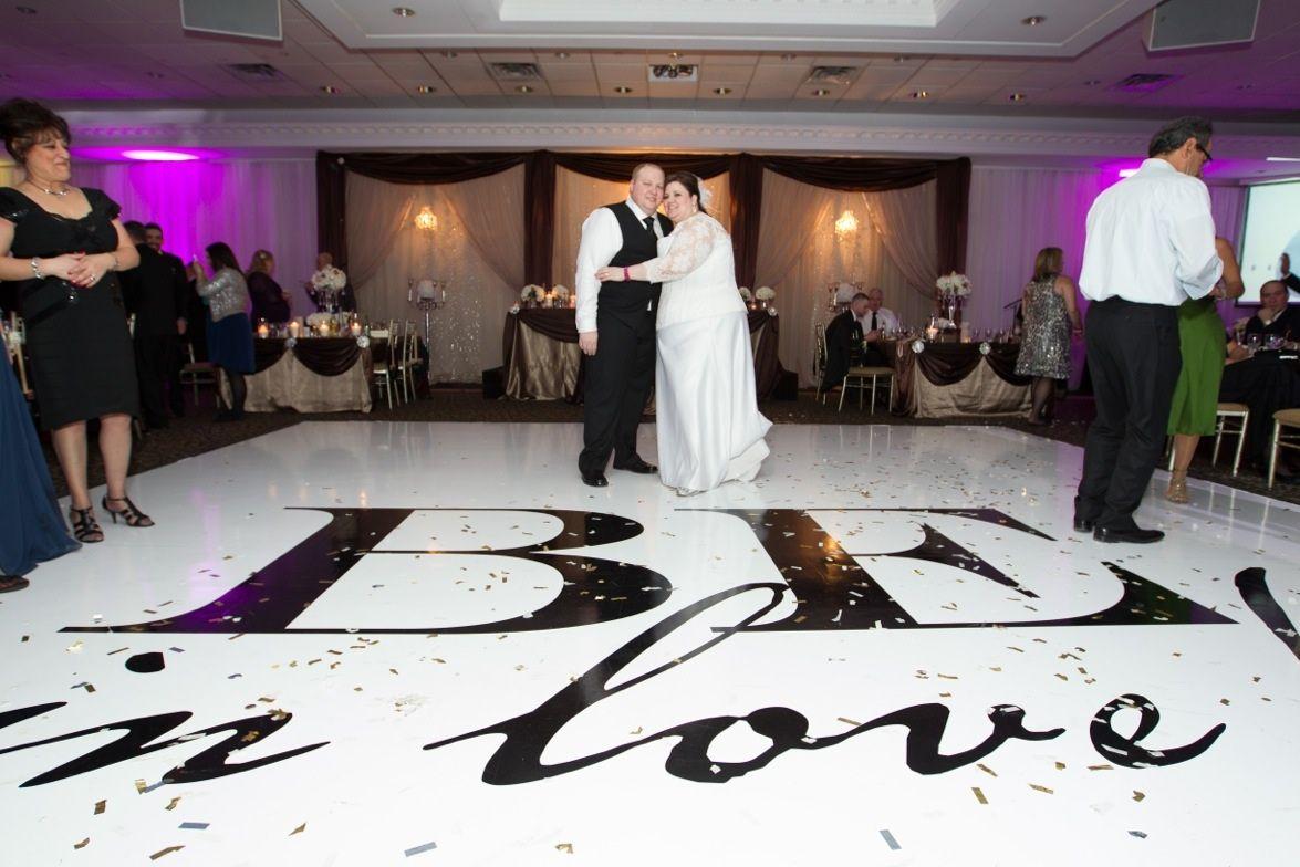 A Beautiful Creative Dance Floor For A Beautiful Couple On