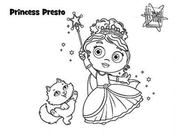 Princess Presto Using Her Magic Wand In Superwhy Coloring Page Coloring Sky Super Coloring Pages Coloring Pages Princess Coloring Pages